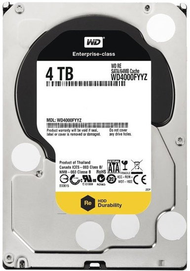 WD 4TB WD4002FYYZ GOLD, 3.5in, 128 MB, 7.200 rpm