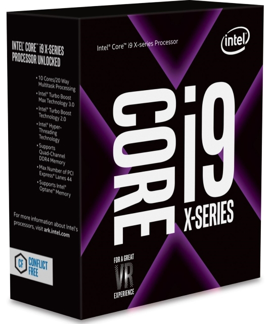 INTEL-2066 Core i9-7900X 10-Core 3.3GHz (4.3GHz) Box