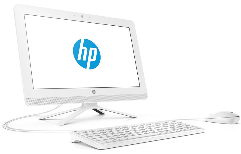 HP consumer 4PR58EA HP All-in-One 20-c400ny, Intel Celeron J400, 4 GB DDR4-2400 SDRAM, 500 GB 7200 rpm SATA, 19,5 FHD VA AG WLED, Intel UHD Graphics 600, DVD Writer, USB Keyboard, USB Mouse, Free DOS, Snow White